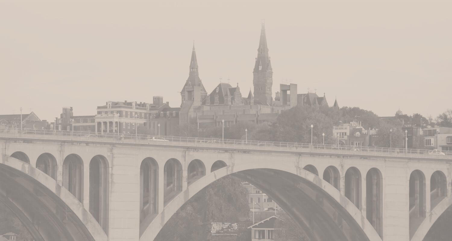 town bridge overlooking Georgetown university