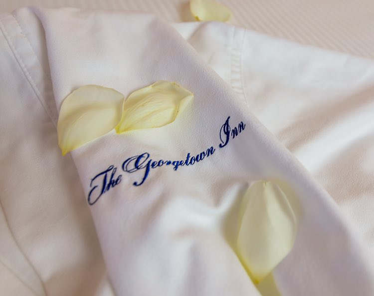 towel with george towne inn monogram