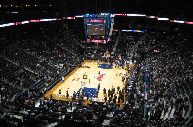 Basketball game at Philips Arena