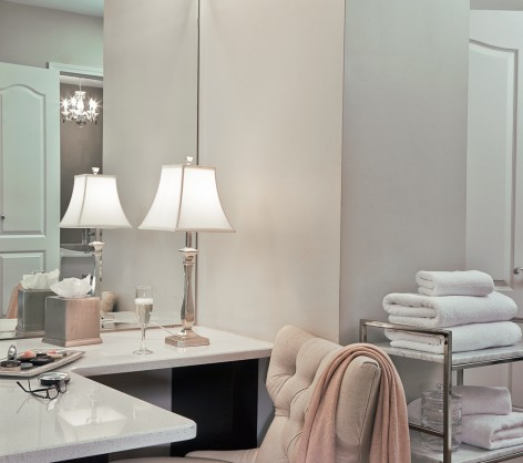 Penthouse bathroom vanity