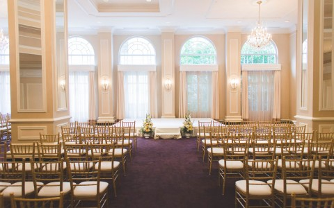 Georgian Terrace Wedding ceremony setup