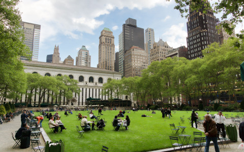 bryant park summertime nyc