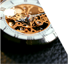Close up of gadget wheels on pocket watch