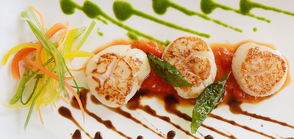 scallop dinner dish