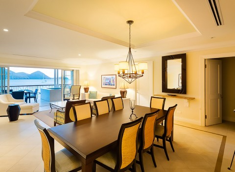 Dining room inside a suite