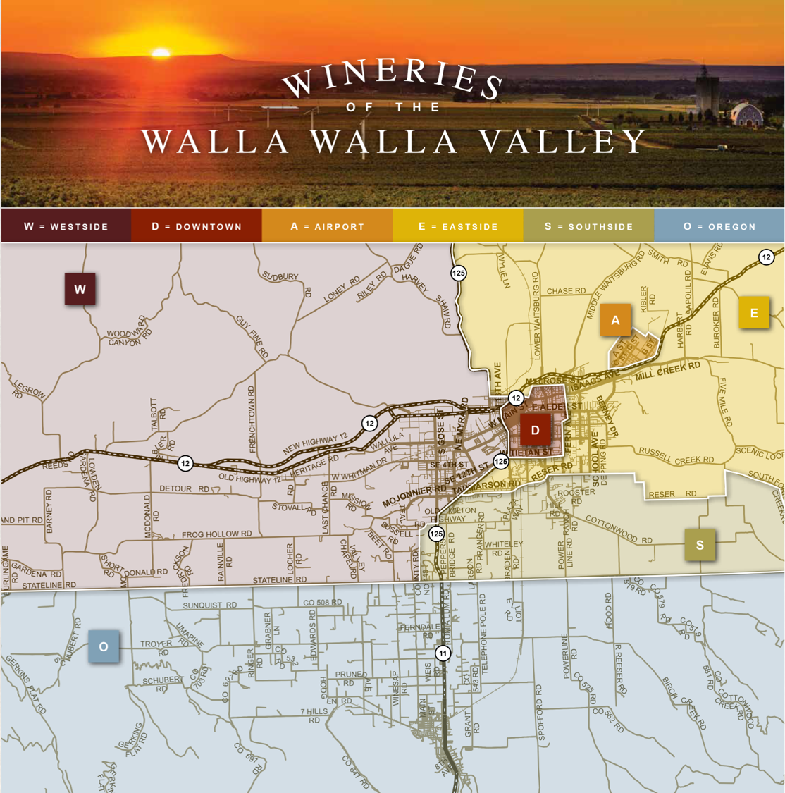 WW Valley Wine Map