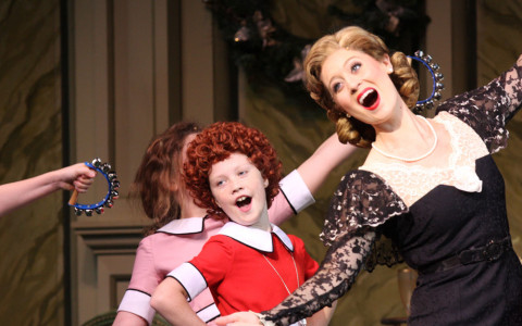Singing and Dancing Scene from Annie the Musical
