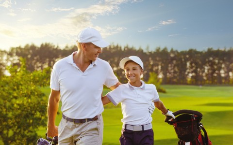 father and son golf copy