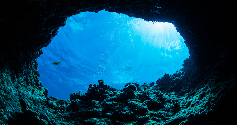 Explore caves at Staniel Cay