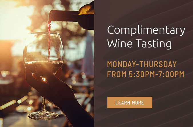 complimentary wine tasting pop up