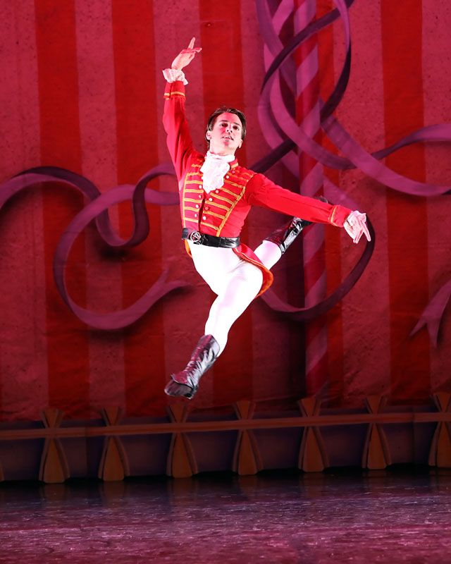 Moscow Ballet Dancer Performing a Jete as the Nutcracker Prince