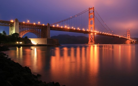 Fort Point National Historic Site & Golden Gate Bridge at Night
