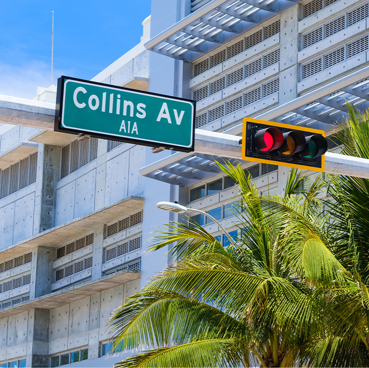 collins ave sign