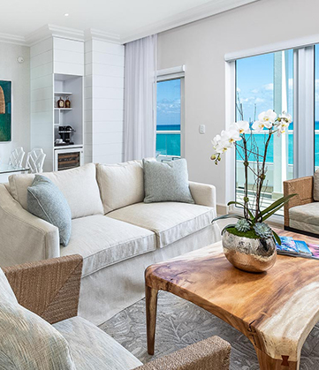 suite with ocean view  and sitting area
