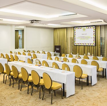 meeting room prepared for event