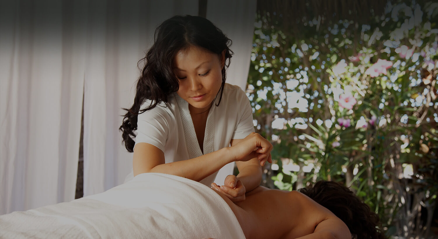 person getting a massage