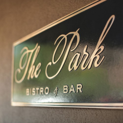 the park bistro and bar sign