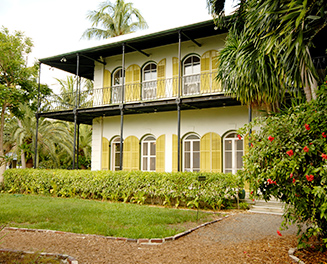 Ernest Hemingway yellow and white house