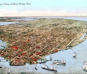 Old sketched out view of key west