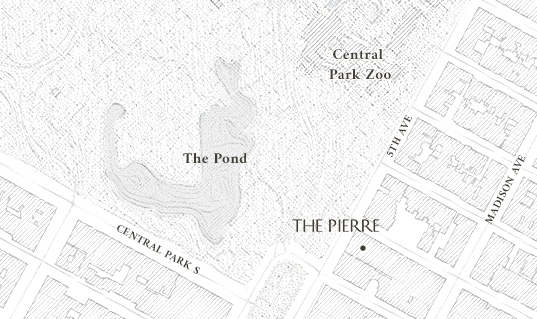 map location of The Pierre