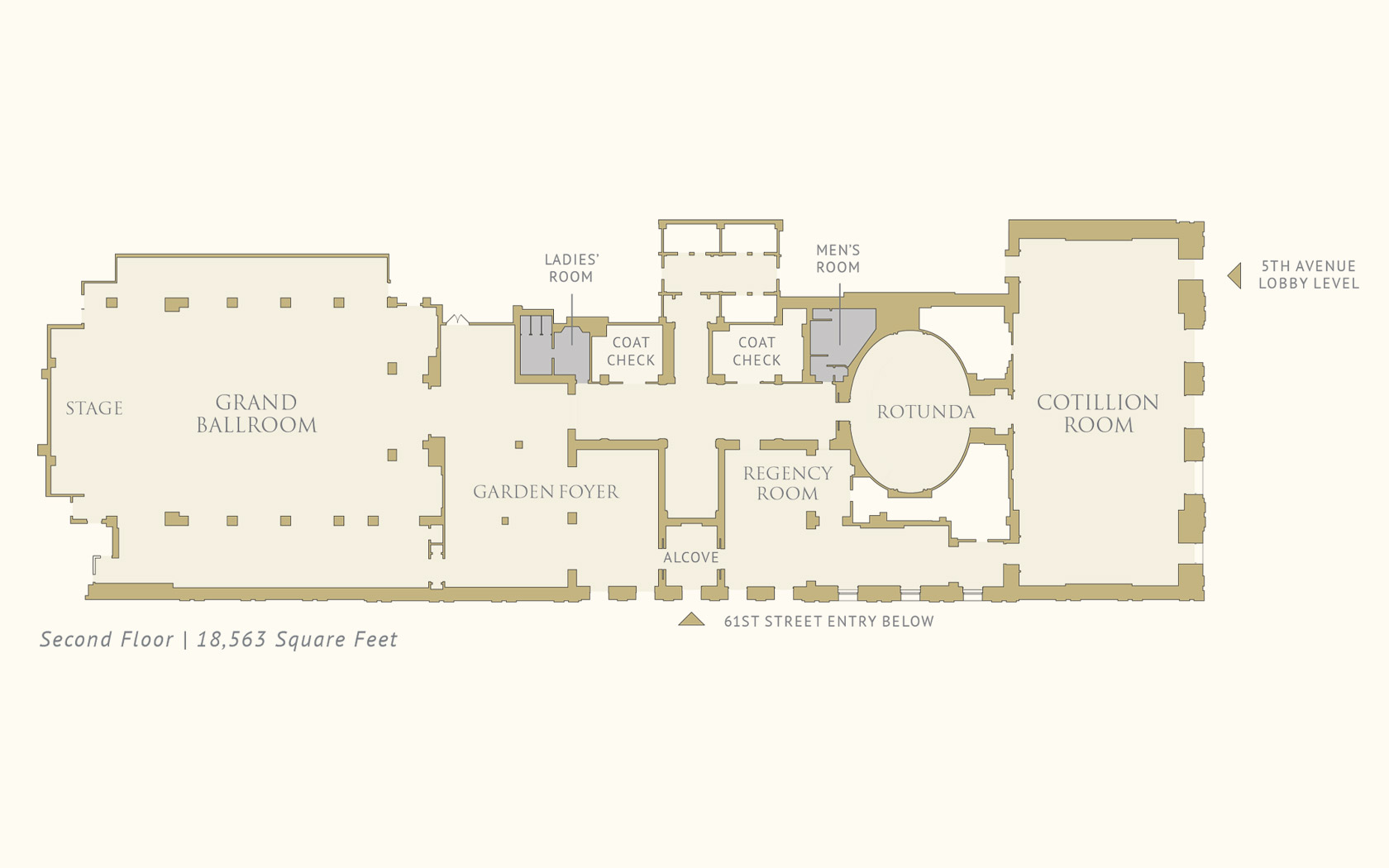 The Pierre, a Taj Hotel, New York Second Floor Floorplan