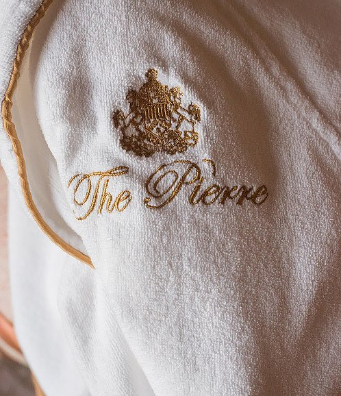 pierre towel emblem