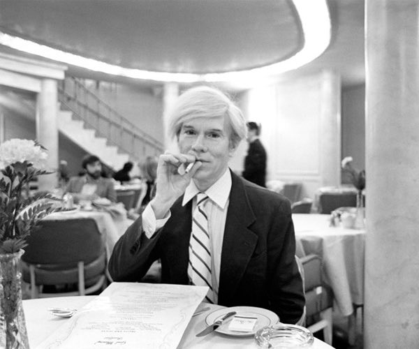Andy Warhol in hotel restaurant