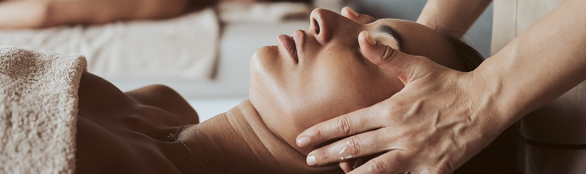 woman receiving a massage header