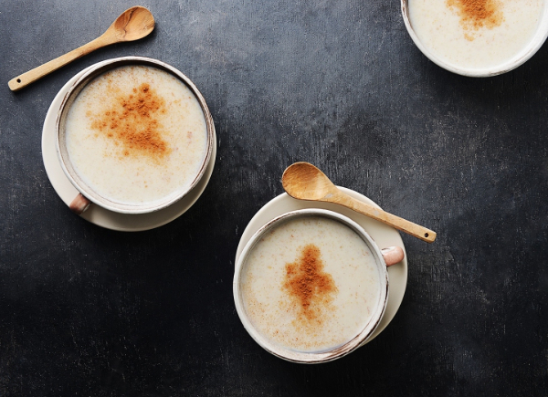 atole drinks with cinnamon