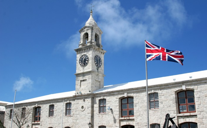 the clocktower in the royal naval dockyards