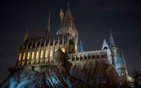 the hogwarts school of witchcraft and wizardry at nightjpg