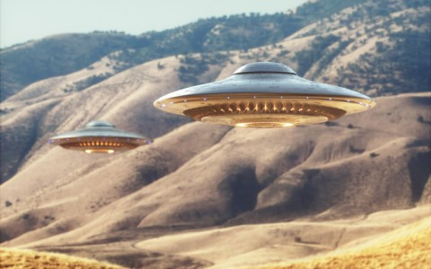 ufos in canyon