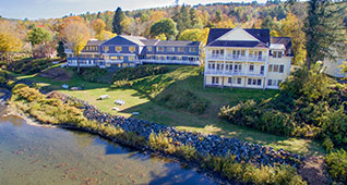 Ariel view of Shire hotel