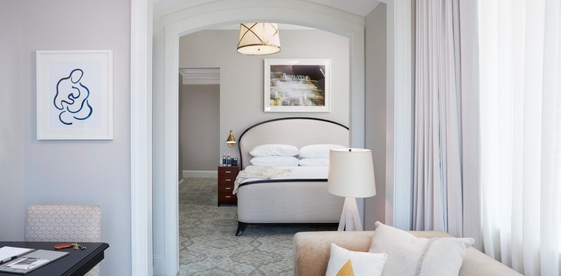 The Spectator Premier Balcony Suite bed