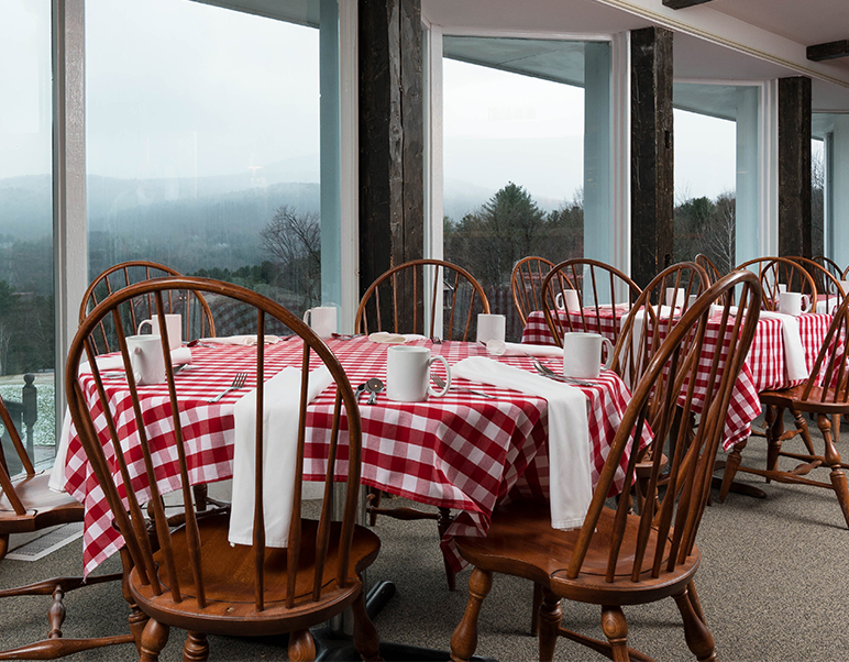 mansfield dining room view of snowy mountains-1