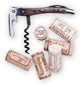 wine opener and corks