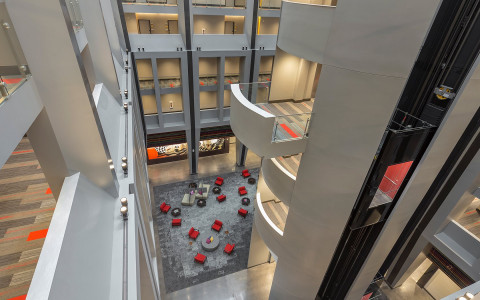 The atrium at The Summit