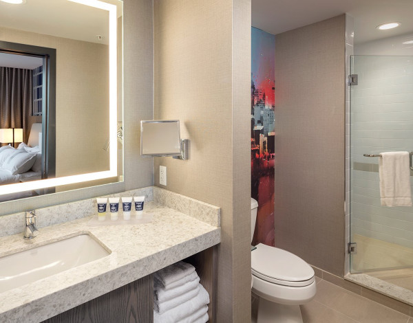 King Suite restroom-One Bedroom Suite