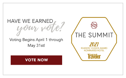 have we earned your vote? vote us for Conde Nast Reader's choice awards