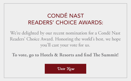 Vote The Summit for Conde Nast's Award!