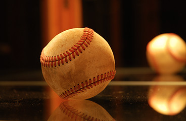 Close up of baseball