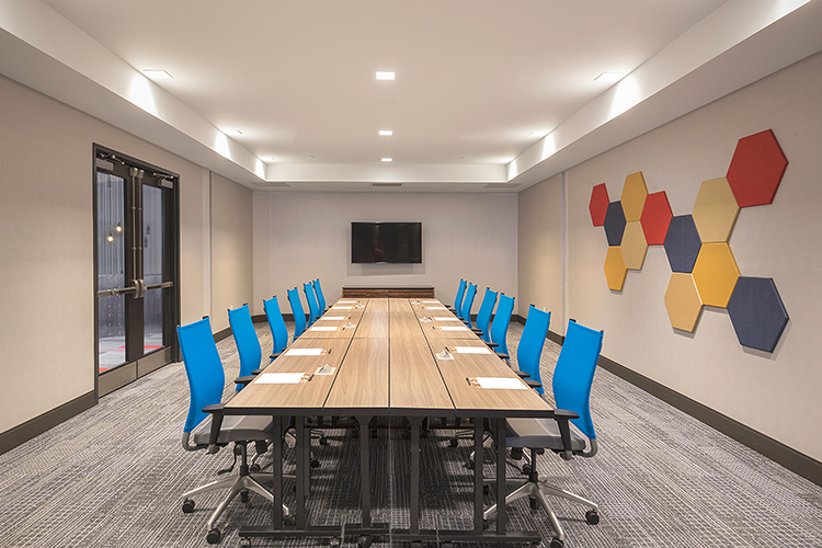 board meeting set up in a creative inspired conference room