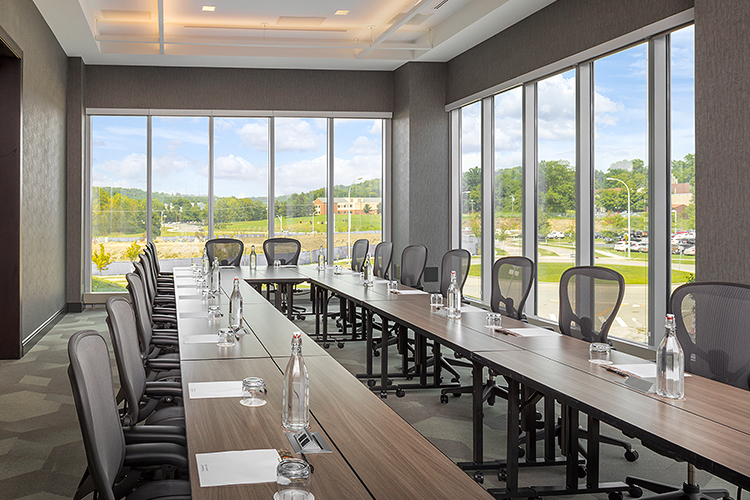 meeting room at the Summit with floor to ceiling windows