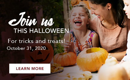 join us for halloween this year with tricks and treats!