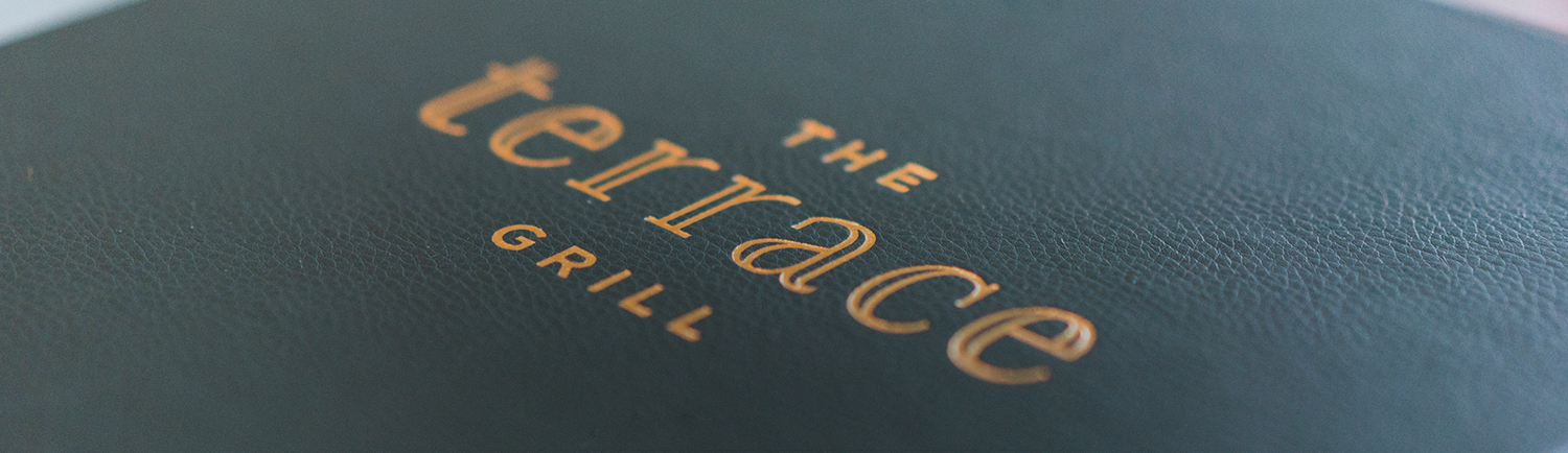 the terrace grill cover of the menu book