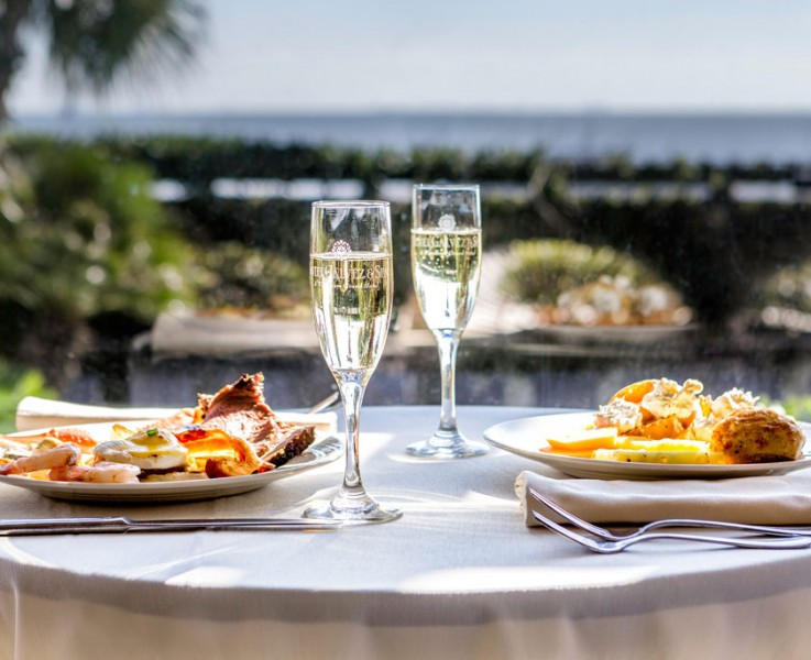 hotel galvez brunch for two