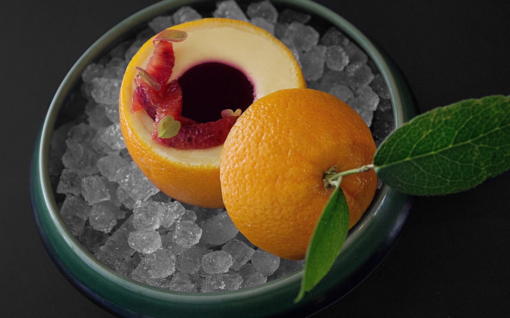 chilled orange desert