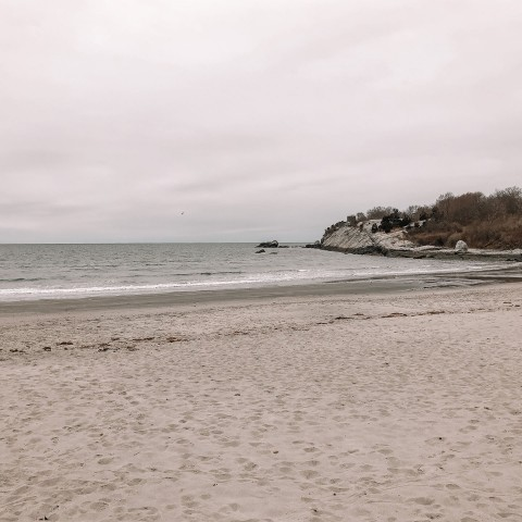 cloudy and peaceful beach