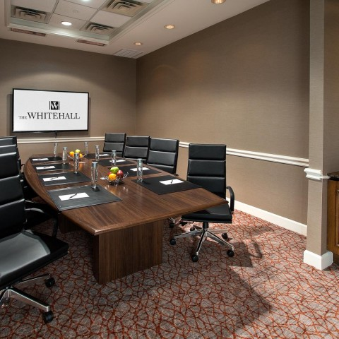 board room with tv screen