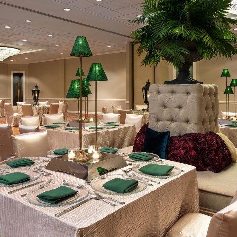 event space elegantly decorated